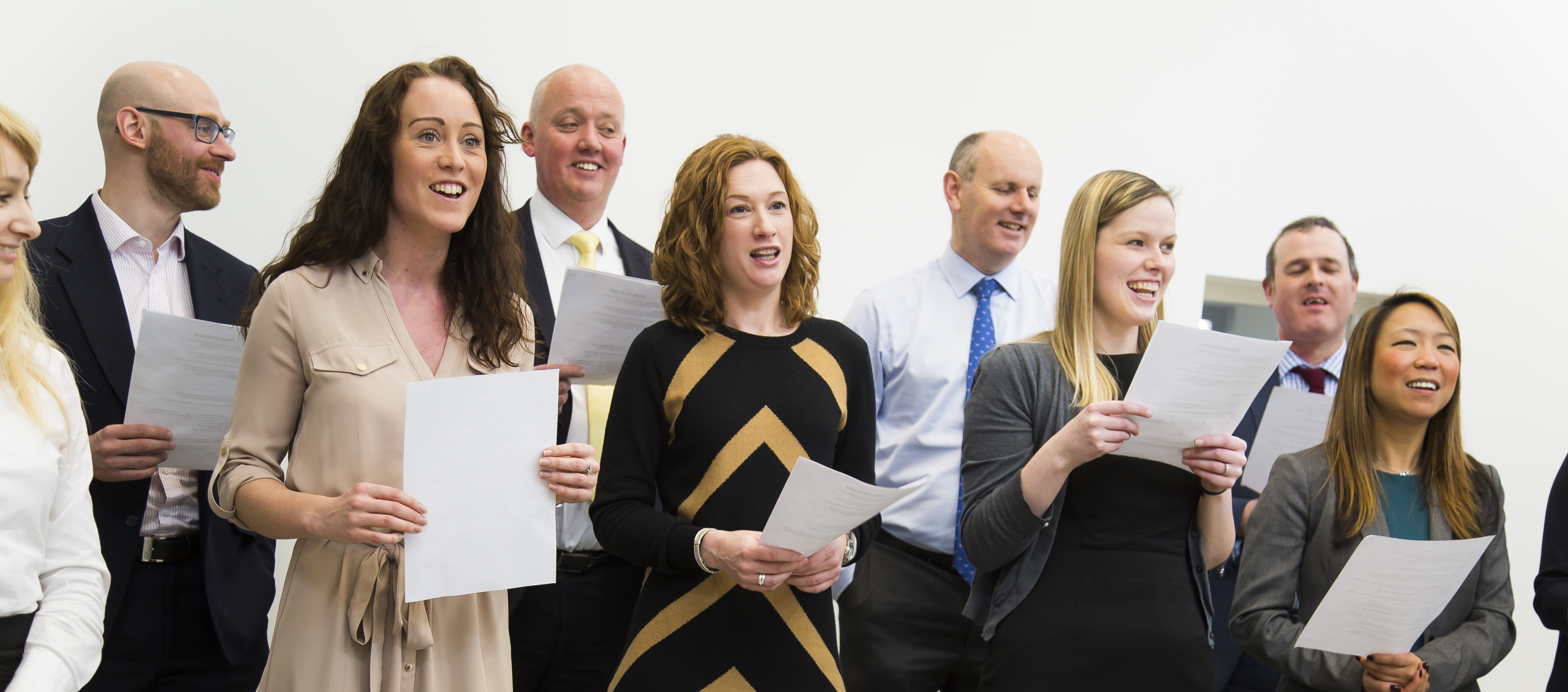 Wellington Place Workplace Choir singing